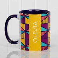 Geometric 11 oz. Coffee Mug in Blue