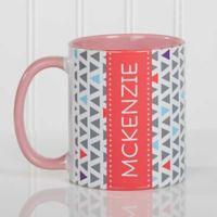 Geometric 11 oz. Coffee Mug in Pink