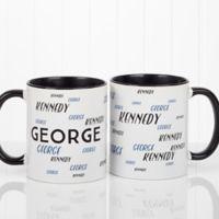 Hello My Name Is 11 oz. Coffee Mug in White/Black