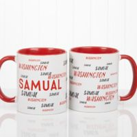 Hello My Name Is 11 oz. Coffee Mug in White/Red