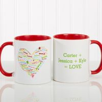 Her Heart of Love 11 oz. Coffee Mug in White/Red