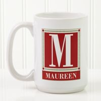 Letter Perfect 15 oz. Coffee Mug in White