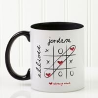 Love Always Wins 11 oz. Coffee Mug in White/Black