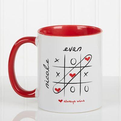 Coffee Mug In White Red