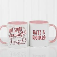 Love Quotes Romantic 11 oz. Coffee Mug in White/ Pink