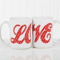 LOVE Sweethearts 15 oz. Coffee Mug in White