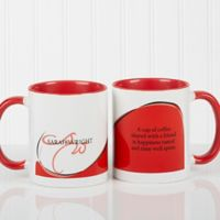 My Monogram Quote 11 oz. Coffee Mug in Red