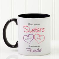 My Sister, My Friend 11 oz. Coffee Mug in Black