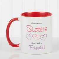 My Sister, My Friend 11 oz. Coffee Mug in Red