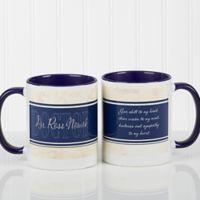 Name Your Career 11 oz. Coffee Mug in White/Blue
