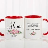 New Mom Floral 11 oz. Coffee Mug in Red