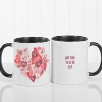 Our Hearts Combined 11 oz. Coffee Mug in Black/White