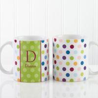 Polka Dot 11 oz. Coffee Mug in White