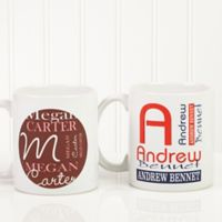 Personally Yours 11 oz. Coffee Mug in White