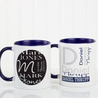 Personally Yours 11 oz. Coffee Mug in Blue