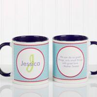 Polka Dot 11 oz. Coffee Mug in Blue