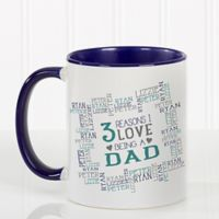Reasons Why For Him 11 oz. Coffee Mug in Blue/White