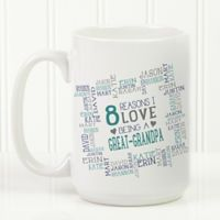 Reasons Why For Him 15 oz. Coffee Mug in White
