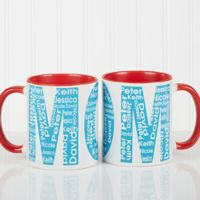 Repeating Name For Her 11 oz. Coffee Mug in Red