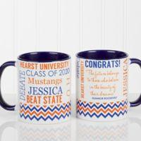 School Memories Graduation 11 oz. Coffee Mug in Blue/White
