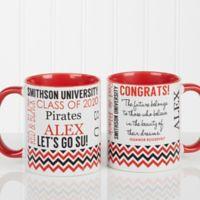 School Memories Graduation 11 oz. Coffee Mug in Red/White