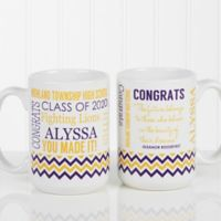 School Memories Graduation 15 oz. Coffee Mug in White