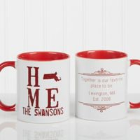 State of Love 11 oz. Coffee Mug in Red