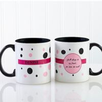 Sweet and Sassy 11 oz. Coffee Mug in Black/White