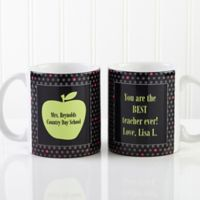 Teacher's Green Apple 11 oz. Coffee Mug in White