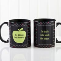 Teacher's Green Apple 11 oz. Coffee Mug in Black