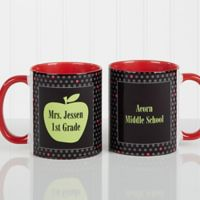 Teacher's Green Apple 11 oz. Coffee Mug in Red