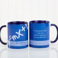 Teaching Professions 11 oz. Coffee Mug in Blue