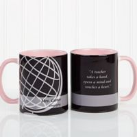 Teaching Professions 11 oz. Coffee Mug in Pink