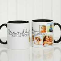 They're Worth Spoiling 11 oz. Coffee Mug in White/Black