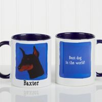 Top Dog Breeds 11 oz. Coffee Mug in Blue/White