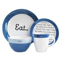 American Atelier Conversation 16-Piece Dinnerware Set in Blue