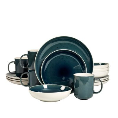 Studio TU® by Tabletops Unlimited® Julie 16-Piece Dinnerware Set in Blue  sc 1 st  Bed Bath \u0026 Beyond & Buy Tabletops Unlimited® Dinnerware from Bed Bath \u0026 Beyond