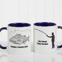 What A Catch! 11 oz. Coffee Mug in Blue