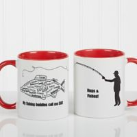 What A Catch! 11 oz. Coffee Mug in Red