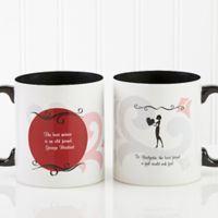 What Friends Are For 11 oz. Coffee Mug in Black/White