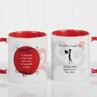 What Friends Are For 11 oz. Coffee Mug in Red/White
