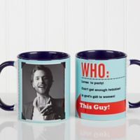 Who Loves You? 11 oz. Coffee Mug in Blue