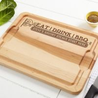 Eat, Drink, & BBQ 12-Inch x 17-Inch Maple Cutting Board