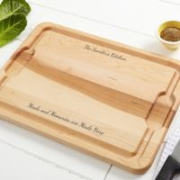 You Name It 12-Inch x 17-Inch Maple Cutting Board