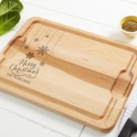 Snowflakes 12-Inch x 17-Inch Maple Cutting Board