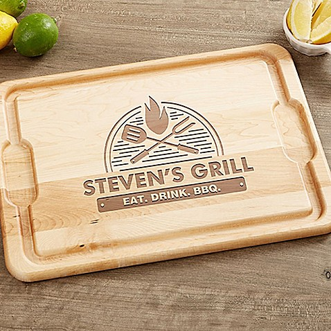 image of The Grill 12-Inch x 17-Inch Maple Cutting Board
