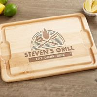 The Grill 12-Inch x 17-Inch Maple Cutting Board