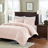 Madison Park Microcell Down Alternative Full/Queen Comforter Set in Blush