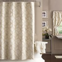 J. Queen New York 54-Inch x 78-Inch Horizons Shower Curtain in Ivory