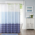 Demi Standard Shower Curtain in Blue